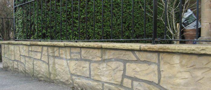 Garden Sandstone Wall Masonry Work
